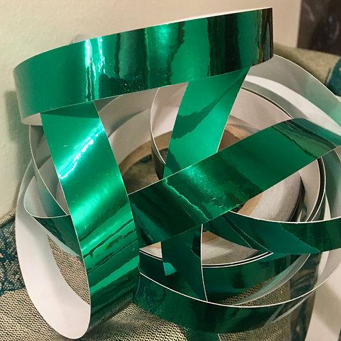 Emerald Green Metallic Mirror Taped Polypro Hoop