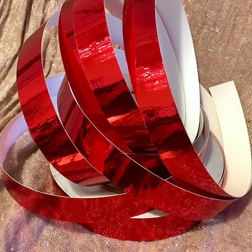 Ruby Red Metallic Mirror Taped Polypro Hoop