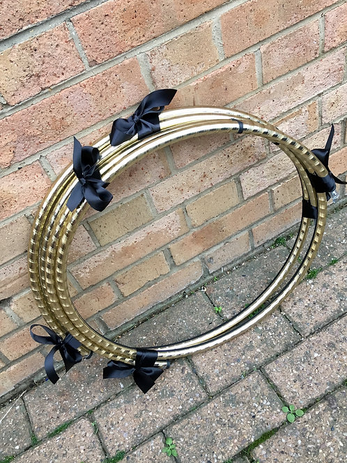 Wrapped Gold Polypro Hoop