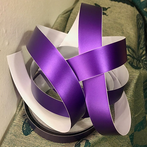 Purple Satin Lustre Taped Polypro Hoop