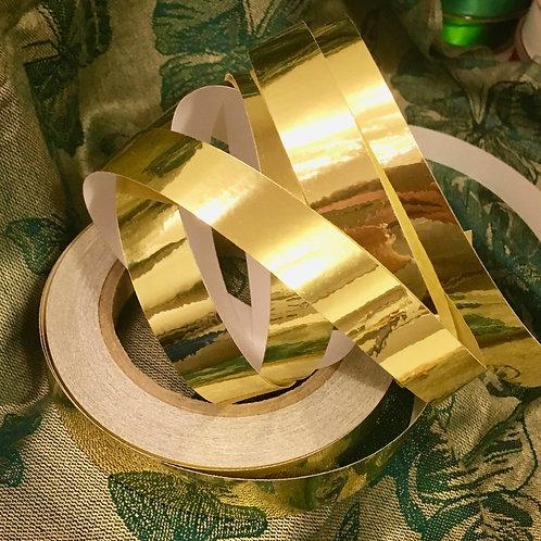 Gold Metallic Mirror Taped Polypro Hoop