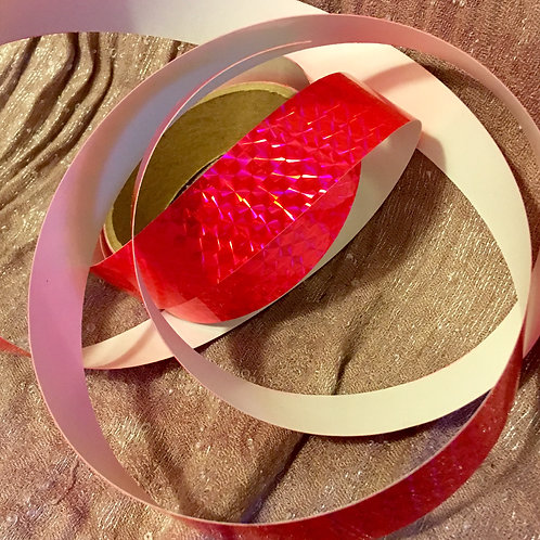 Fluorescent Pink Prism Holographic Taped Polypro Hoop