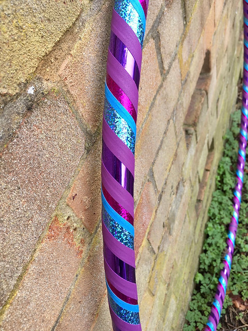 "READY TO SHIP: 40"" Beginner/Fitness Spiral Taped Hoop"