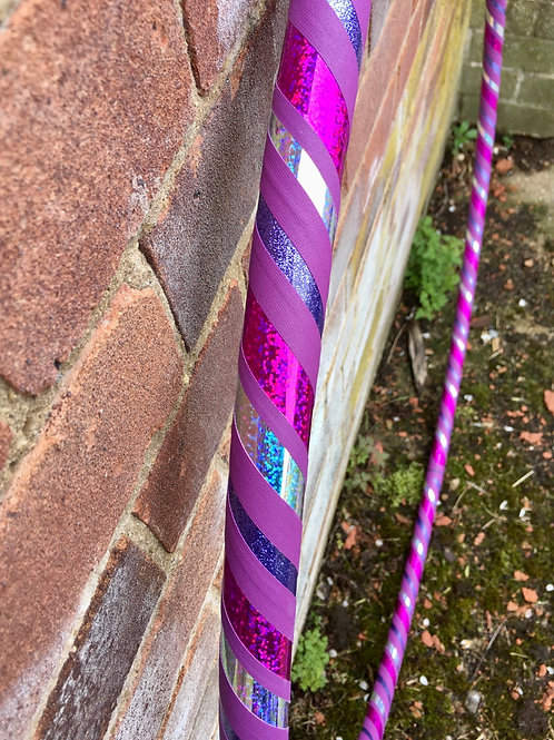 """READY TO SHIP: 40"""" Beginner/ Fitness Spiral Taped Hoop"""