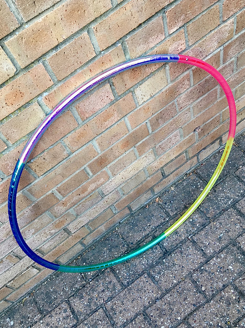 Sherbet Rainbow Colour Shift Taped Polypro Hoop