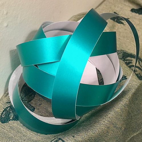 Teal Satin Lustre Taped Polypro Hoop