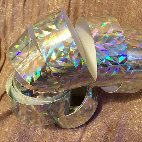 Rainbow Kryptonite Holographic Taped Polypro Hoop