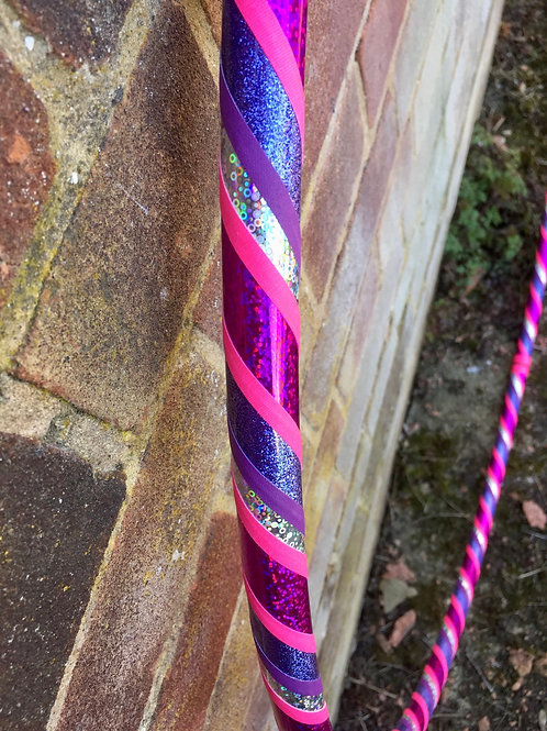 "READY TO SHIP: 38"" Intermediate/ Dance Spiral Taped Hoop"