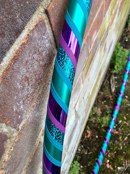 """READY TO SHIP: 36"""" Beginner/ Fitness Spiral Taped Hoop"""