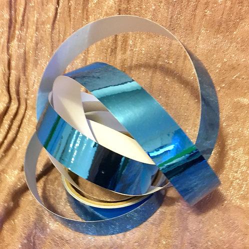 Sky Blue Metallic Mirror Taped Polypro Hoop