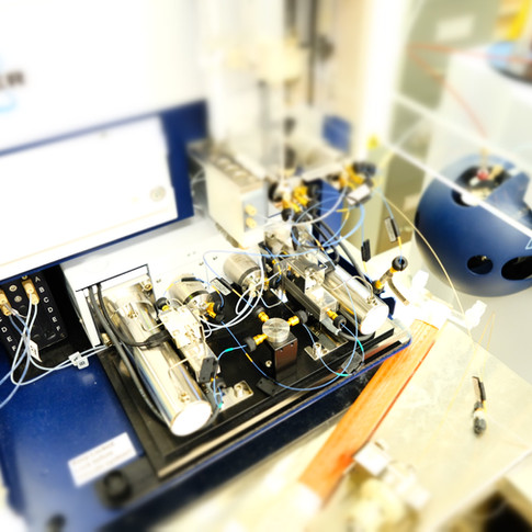 In the mass spec room