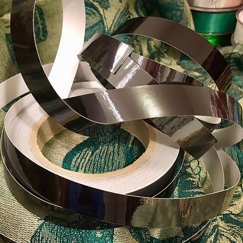 Black Metallic Mirror Taped Polypro Hoop