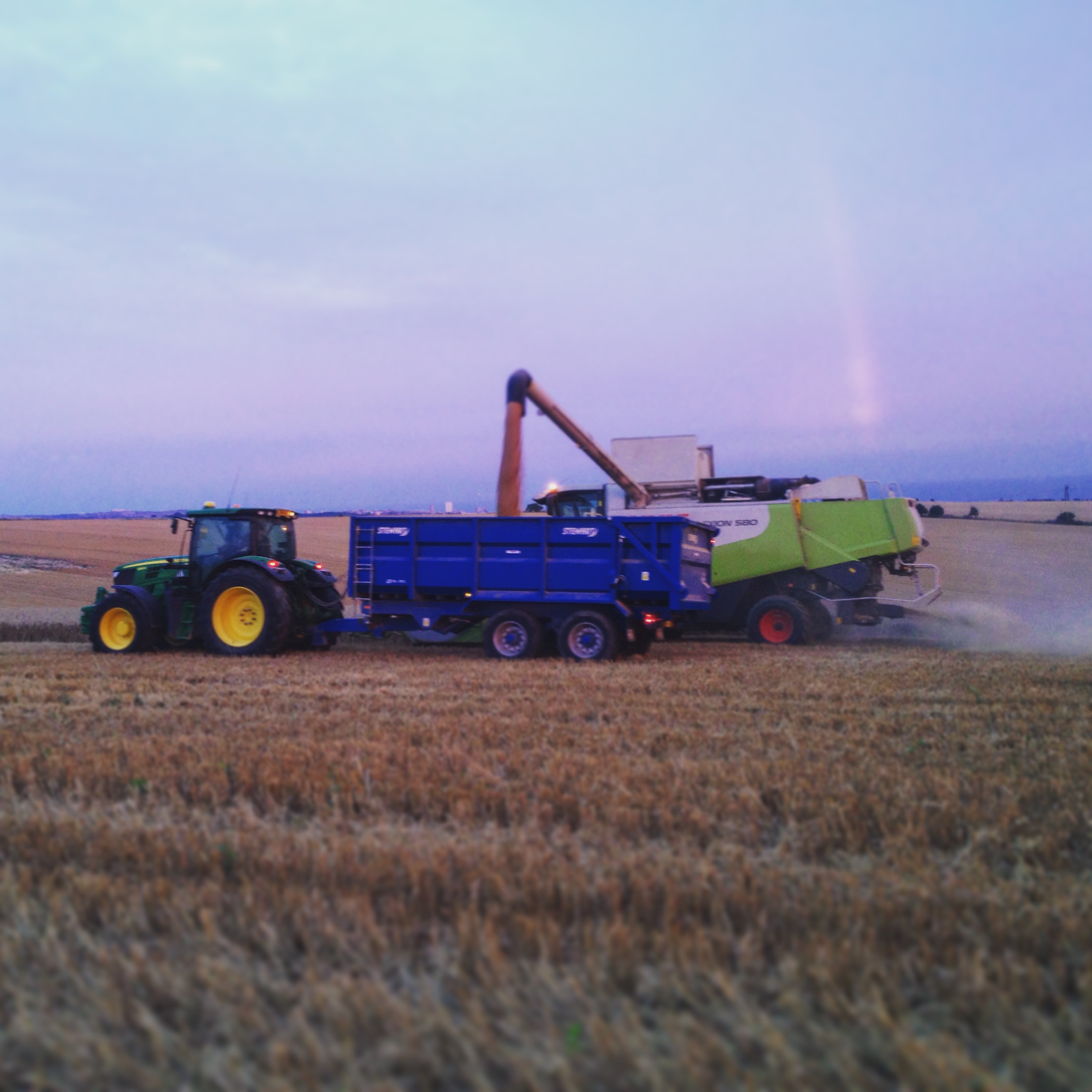Harvesting into the evening