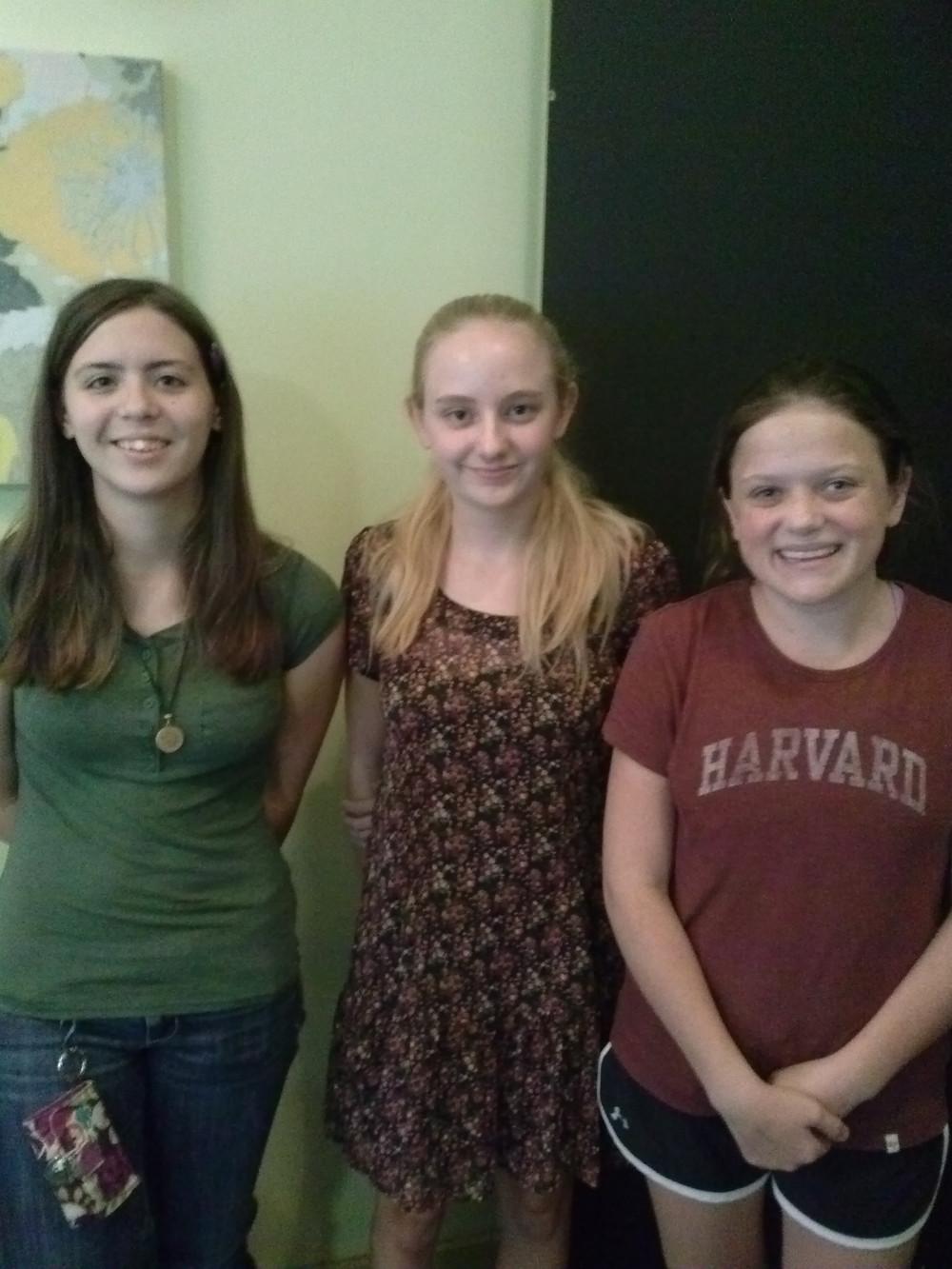 Kayleigh, Hannah, Gillian