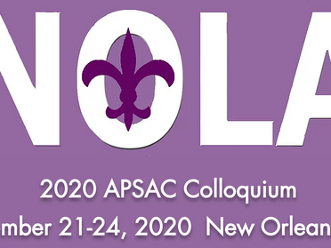 The 2020 APSAC Colloquium is Rescheduled to September 21-24 in New Orleans