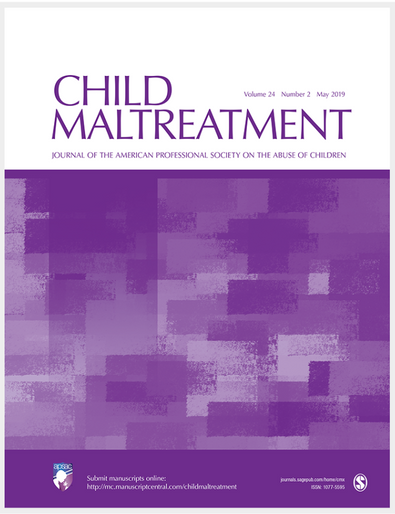 Read the New! Child Maltreatment 25(3)