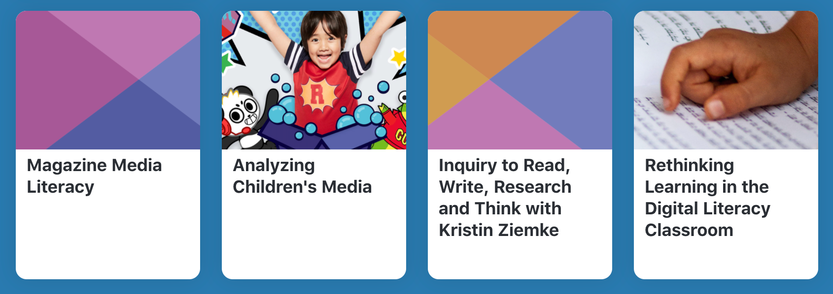 Summer Institute in Digital Literacy