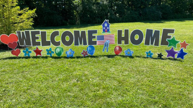 Welcome Home - Yard Cards Showboat Park Chesaning, MI