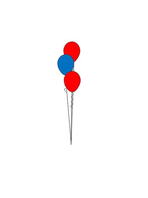 3 Balloon Bouquet Tiered
