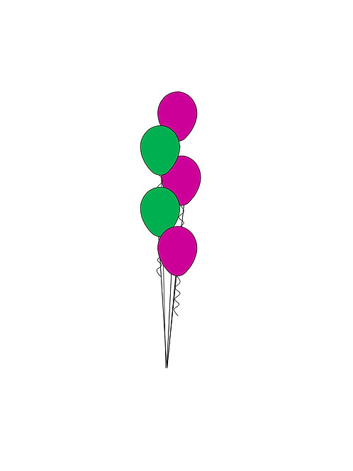 5 Balloon Bouquet Tiered