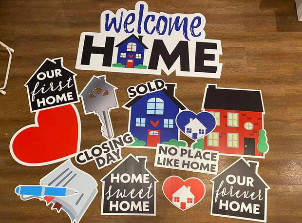 Welcome Home Yard Cards - Poppin Decor
