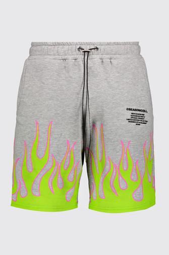 Short flamme en jersey 33€