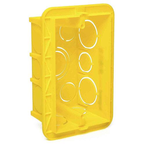 Caixa de Luz 4x2 Plástica Amarela - Legrand