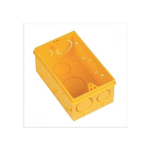 Caixa de Luz 4x2 Plástica Amarela - Ilumi