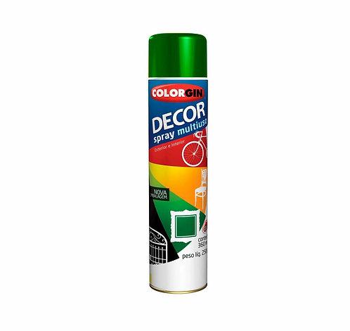 Tinta Spray Colorgin Decor Metálico Verde Amazonas 250g