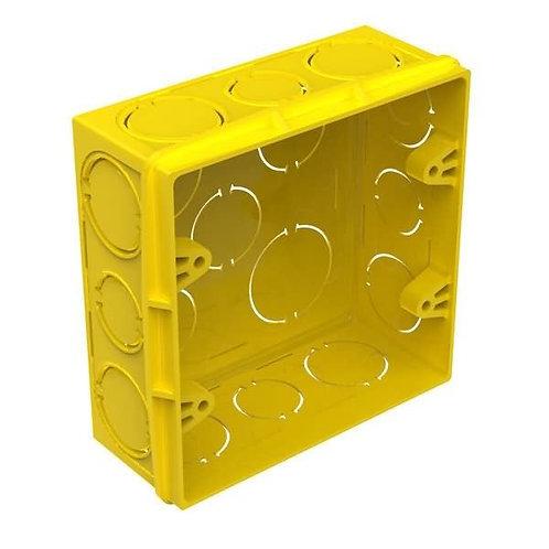 Caixa de Luz 4x4 Plástica Amarela - Fortlev