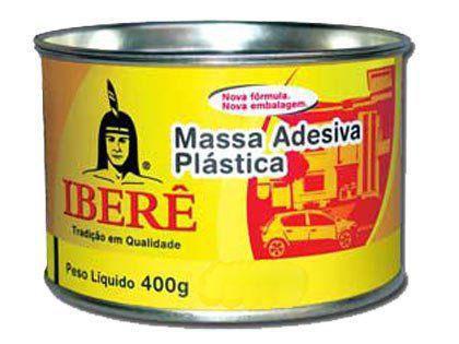 Massa Adesiva Plástica Preta Iberê - 400g