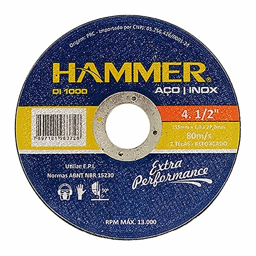 Disco Sped/Inox 4.1/2x7/8x1.0 -Hammer