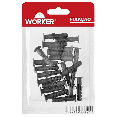 Bucha 06 20pçs Plásticas para Parede Maciça 012 - Worker