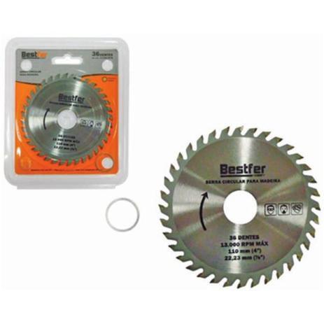 Disco de Serra para Madeira com Videa 110mm (36 Dentes) - Bestfer