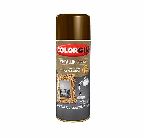 Tinta Spray Colorgin Metallik 250g