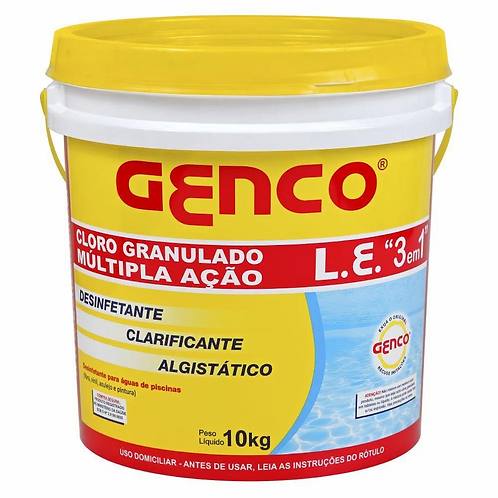 Cloro Genco Multi Ação 3 em 1 L.E. - 10kg