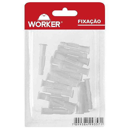 Bucha 08 Aba 10pçs Plásticas para Parede Maciça-Oca 017 - Worker