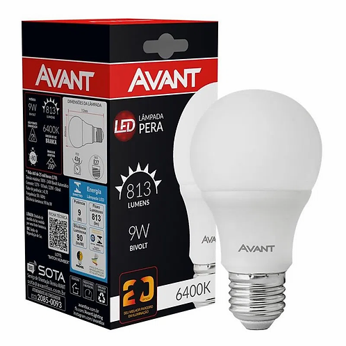 Lâmpada LED 9W Avant