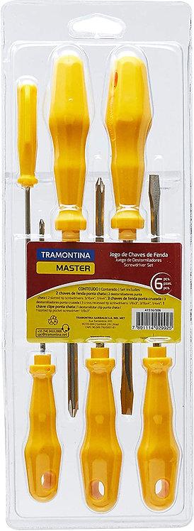 Kit Chave de Fenda Tramontina -06 Peças