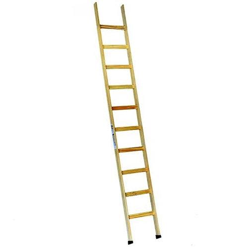 Escada de Madeira Encosto Escadas Segurança - 10 Degraus