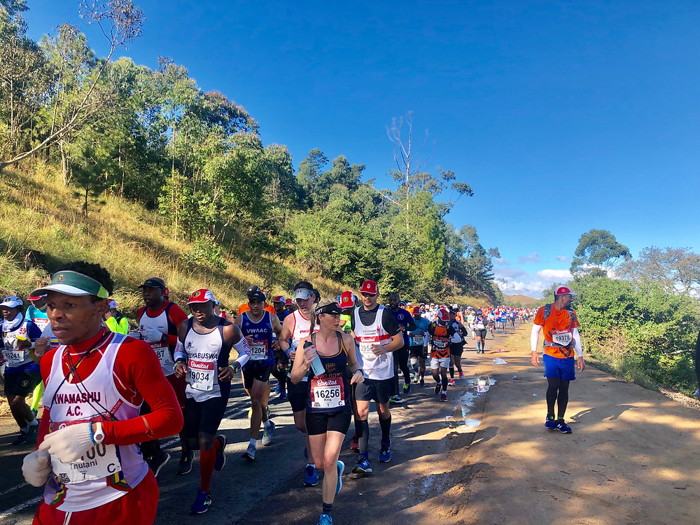 Ultramarathon runners at Comrades marathon