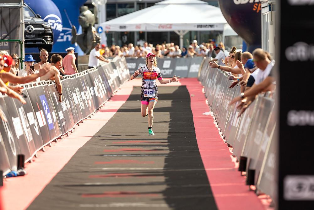 Finishing the Ironman 70.3