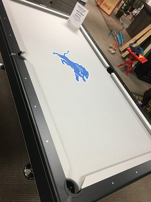 8' Imperial Pool Table DETROIT LIONS package