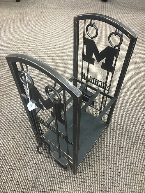 UofM Fireplace Accessories and Wood Holder