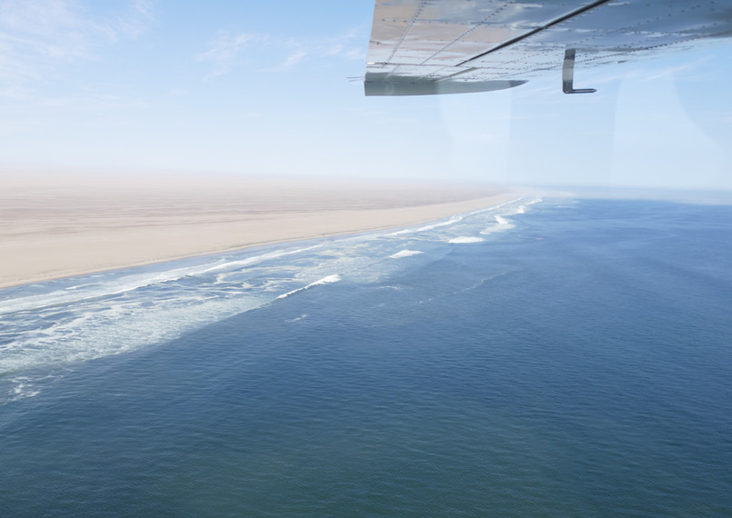 Flight over Skeleton Coast
