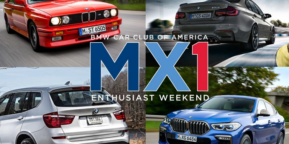 BMW Car Club of America M Chapter Caravans to MX1