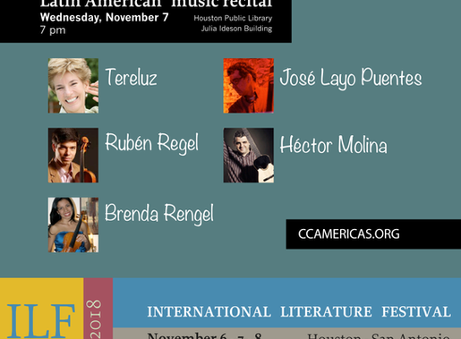 Latin American music recital at Houston Public Library - Julia Ideson Building. November 7