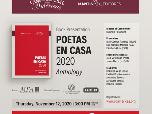 Book Presentation: Poetas en Casa 2020 - Anthology