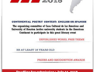 Continental Poetry Contest for University Students Submission Deadline Has Been Extended to July 31,