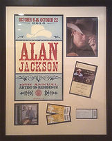 Hang it Up Picture Framing Alan Jackson concert
